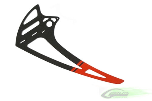 Picture of Carbon Fiber Vertical Fin - RED (1pc) - Goblin 700/770