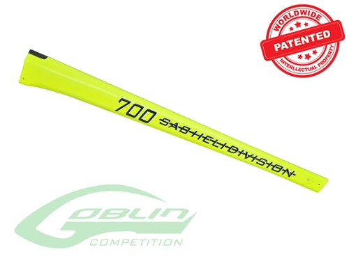 Picture of Carbon Fiber Tail Boom Yellow - Goblin 700 Competition