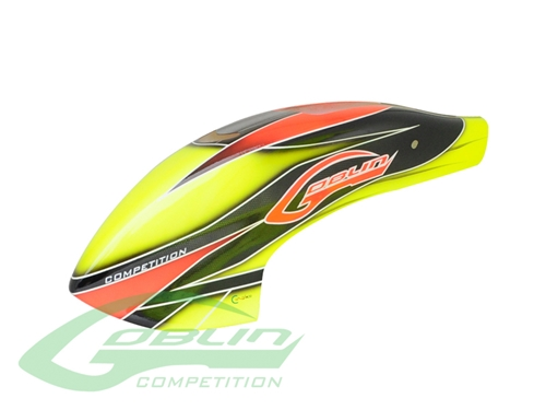 Picture of Canomod Airbrush Canopy Yellow/Orange - Goblin 700 Competition