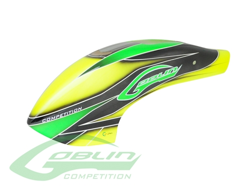 Picture of Canomod Airbrush Canopy Yellow/Green - Goblin 700 Competition