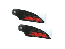 Billede af Zeal 70mm carbon fiber tail blade - red