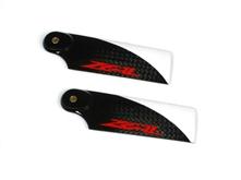 Billede af Zeal 72mm carbon fiber tail blade - red
